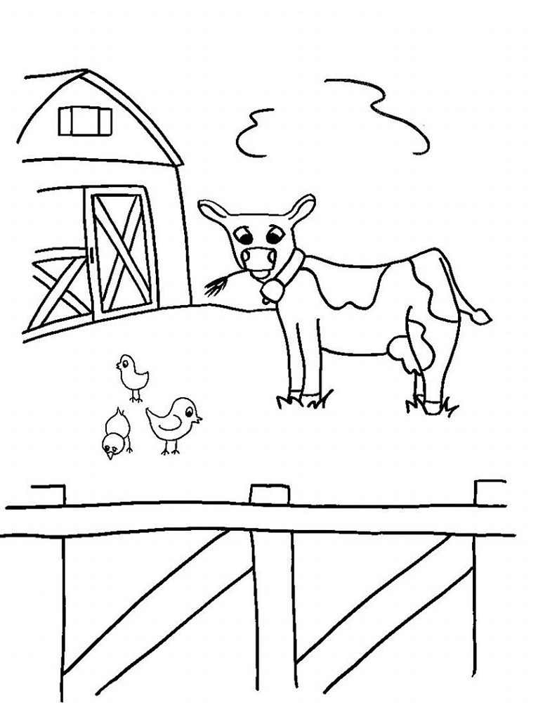 Farm Coloring Pages For Kids