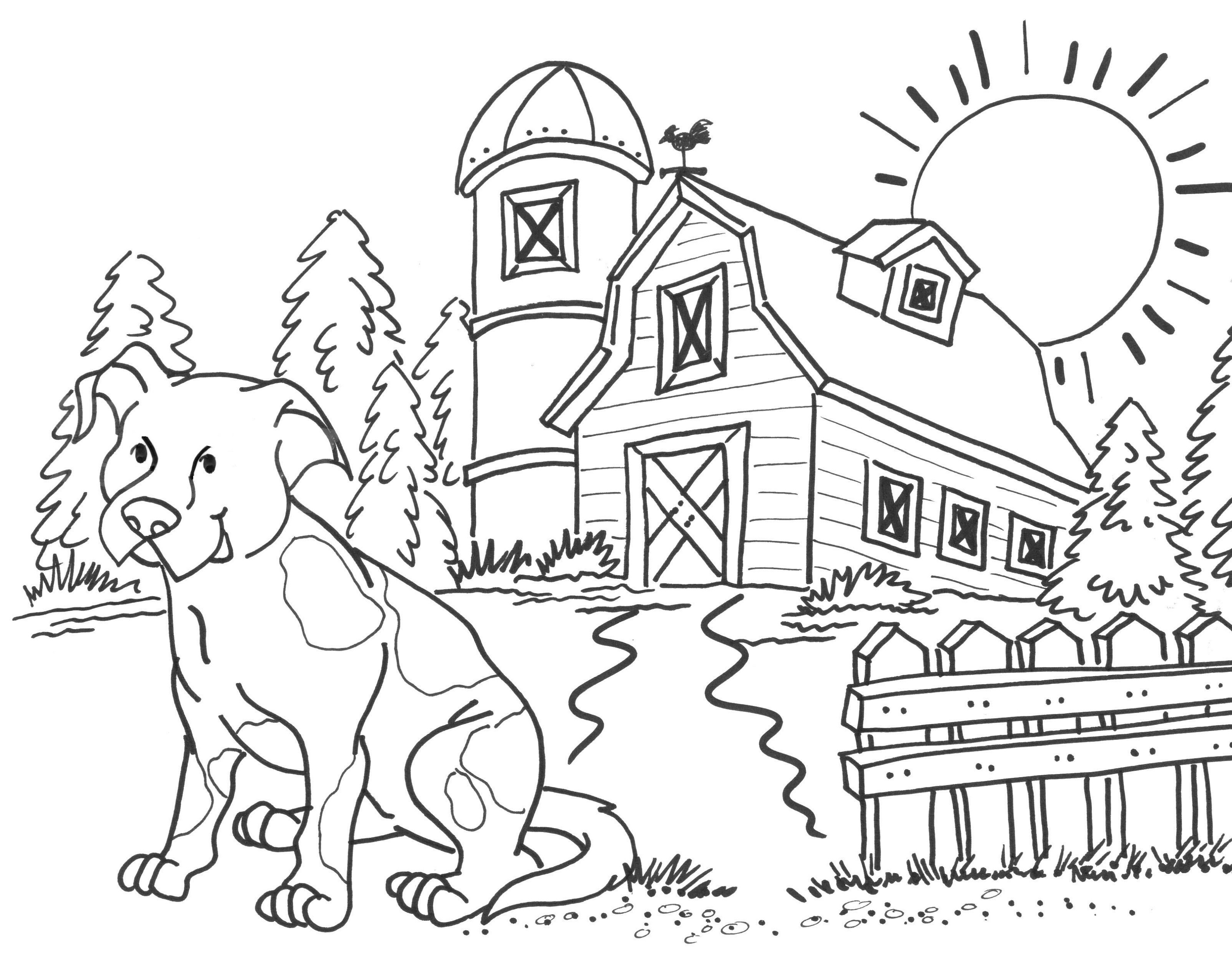 Farm Coloring Pages Free