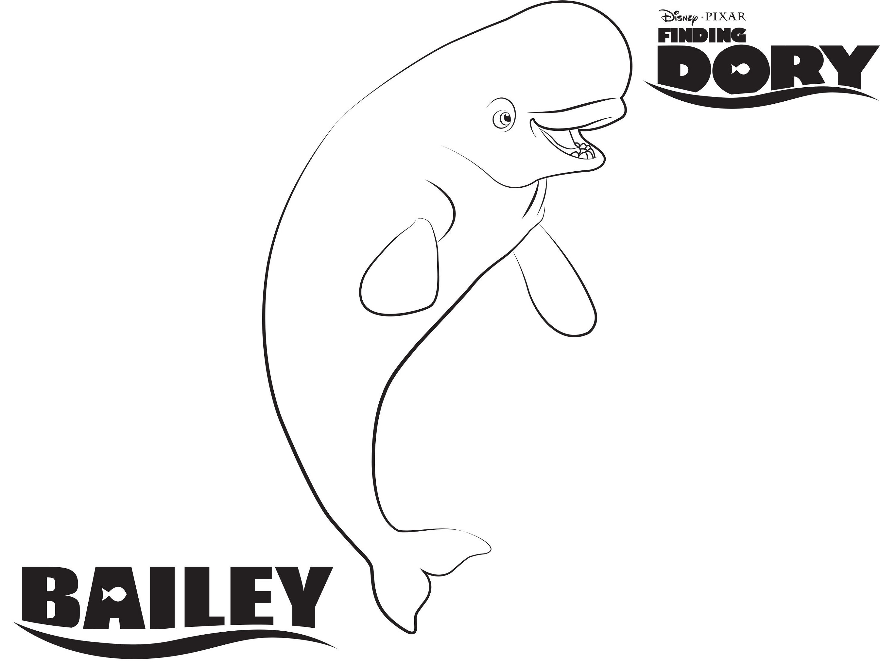 Finding Dory Coloring Pages Bailey