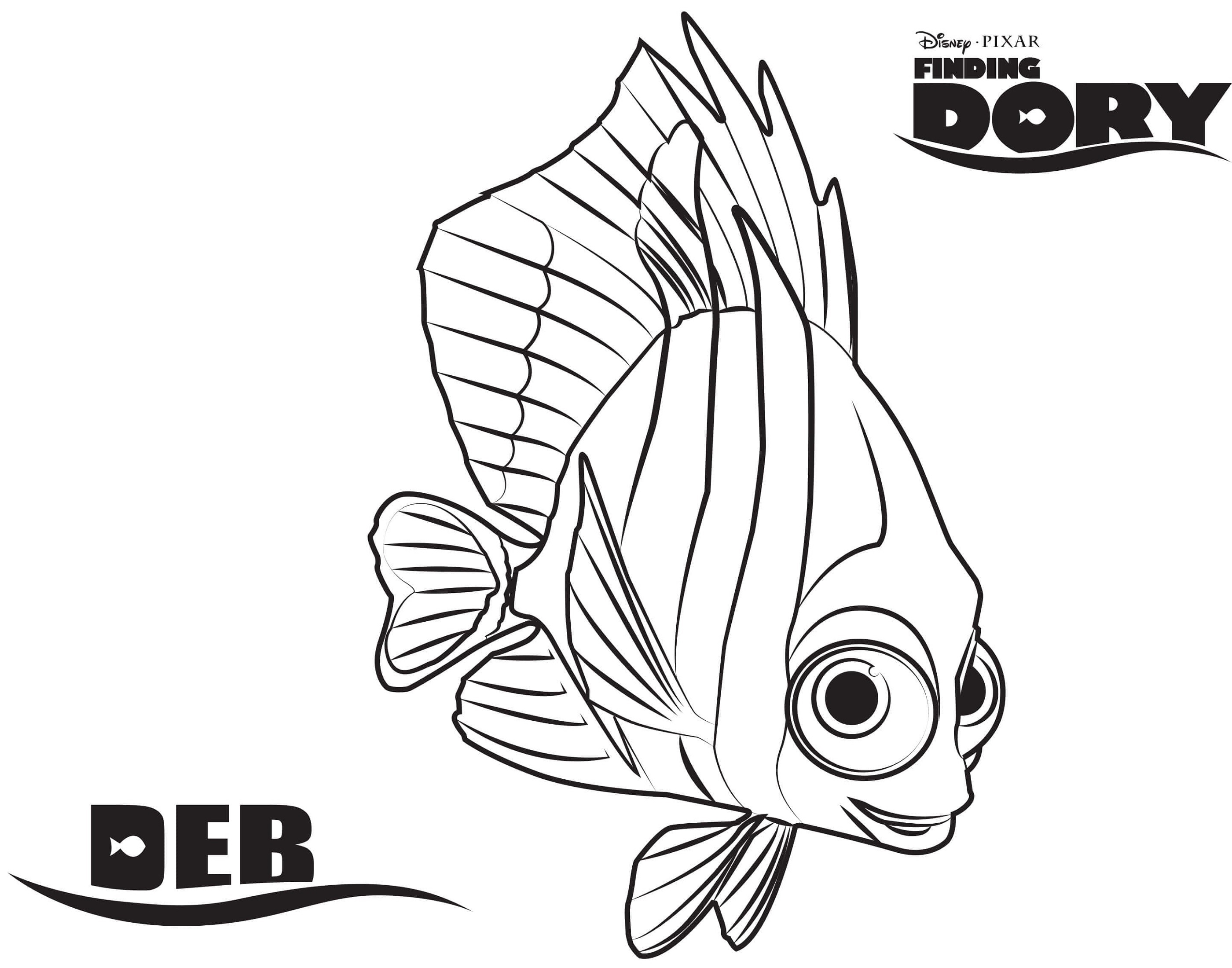 Finding Dory Coloring Pages Deb