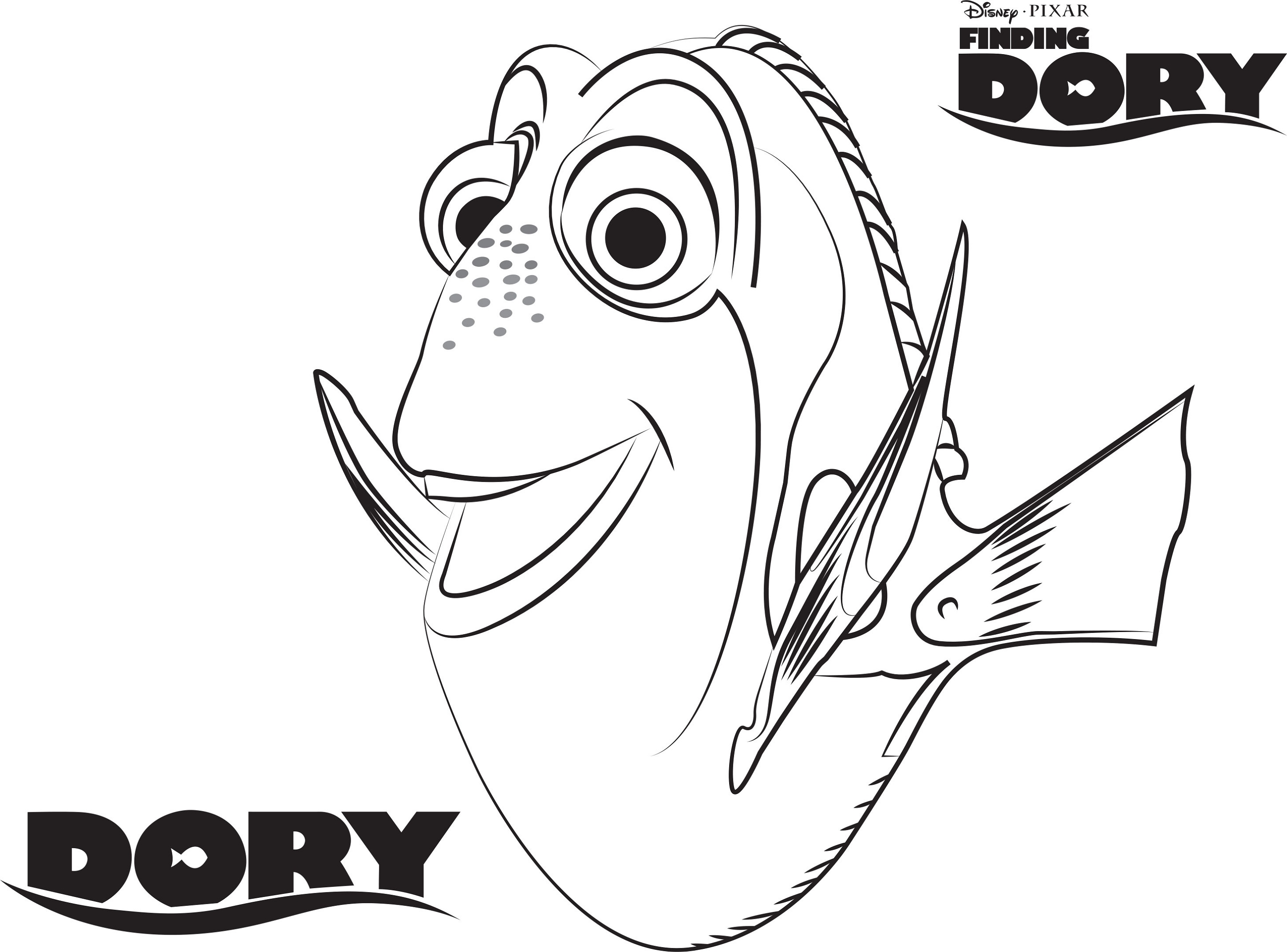 Finding Dory Coloring Pages Dory