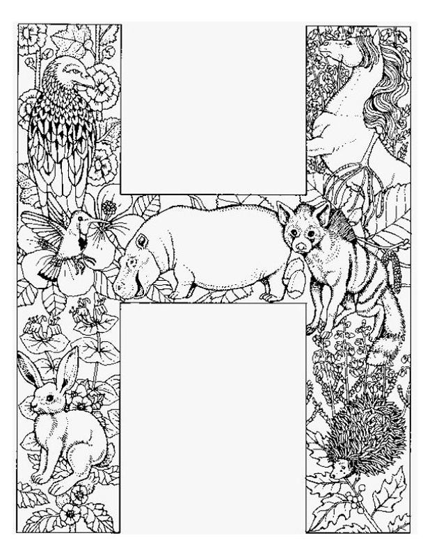Free Adult Coloring Pages Letter