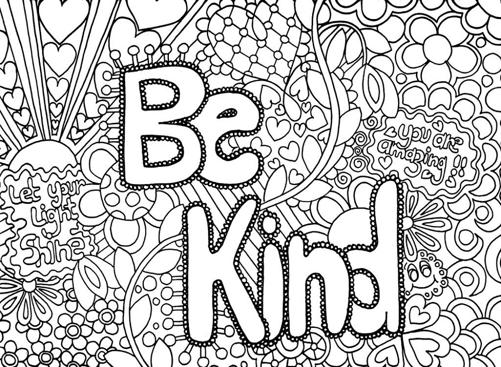 Free Adult Coloring Pages Quotes