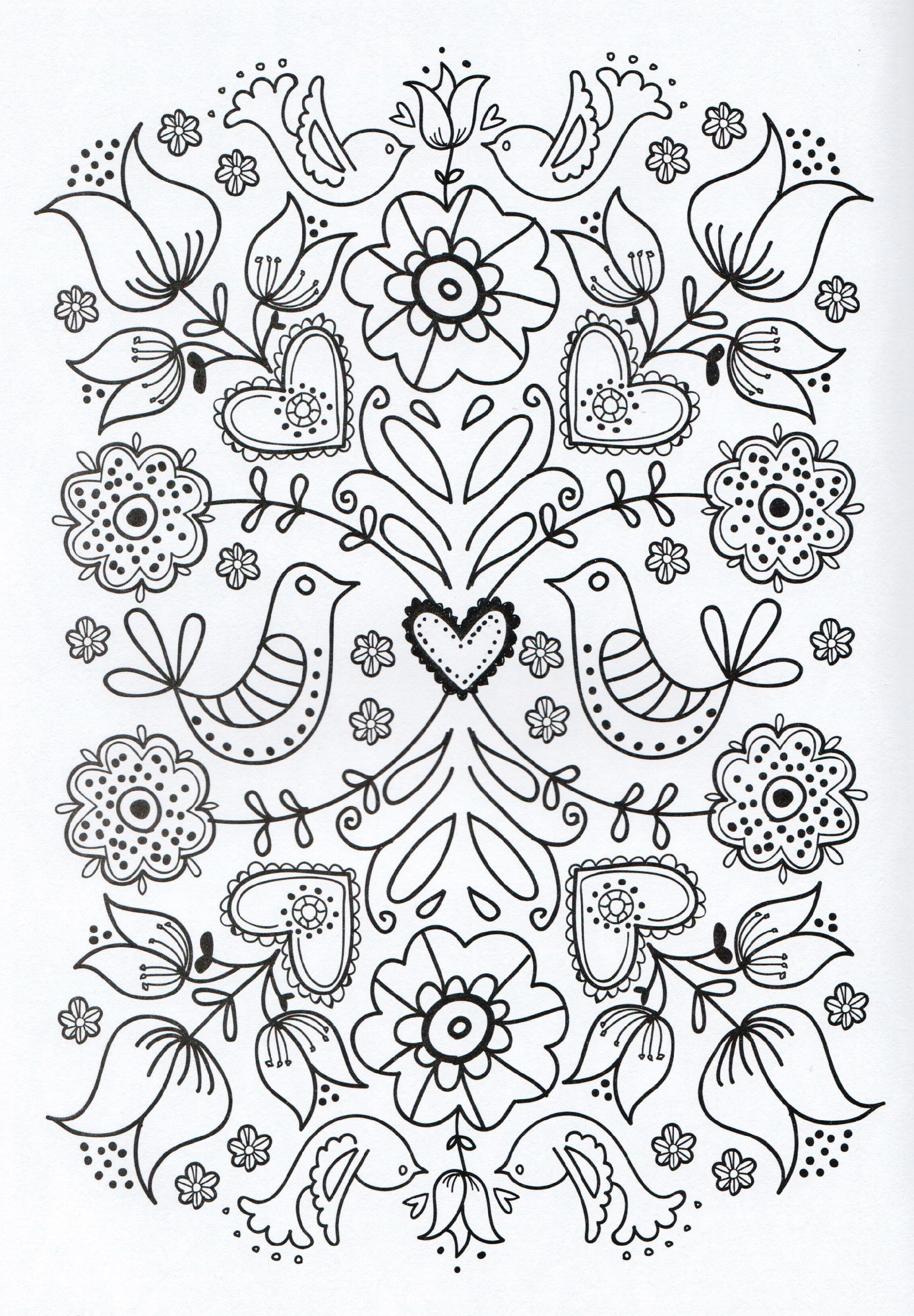 Free Adult Coloring Pages Simple