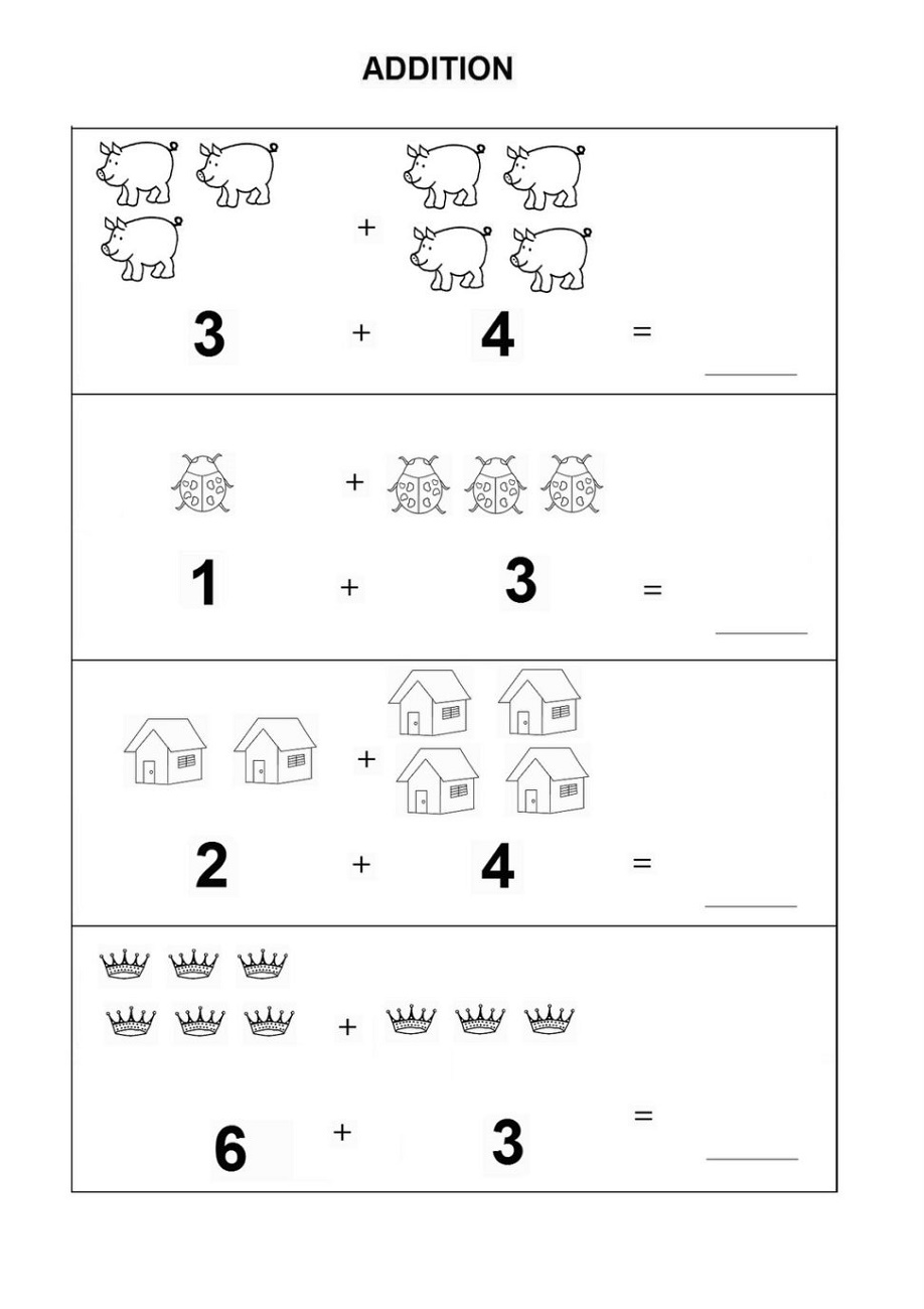 Free Easy Math Worksheets Adding