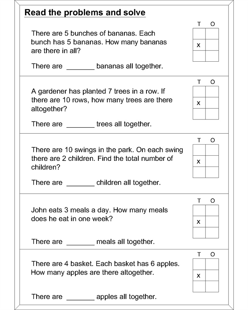 Free Easy Math Worksheets Problem