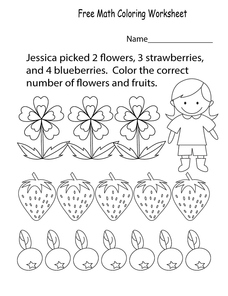 Free Kindergarten Worksheets Math