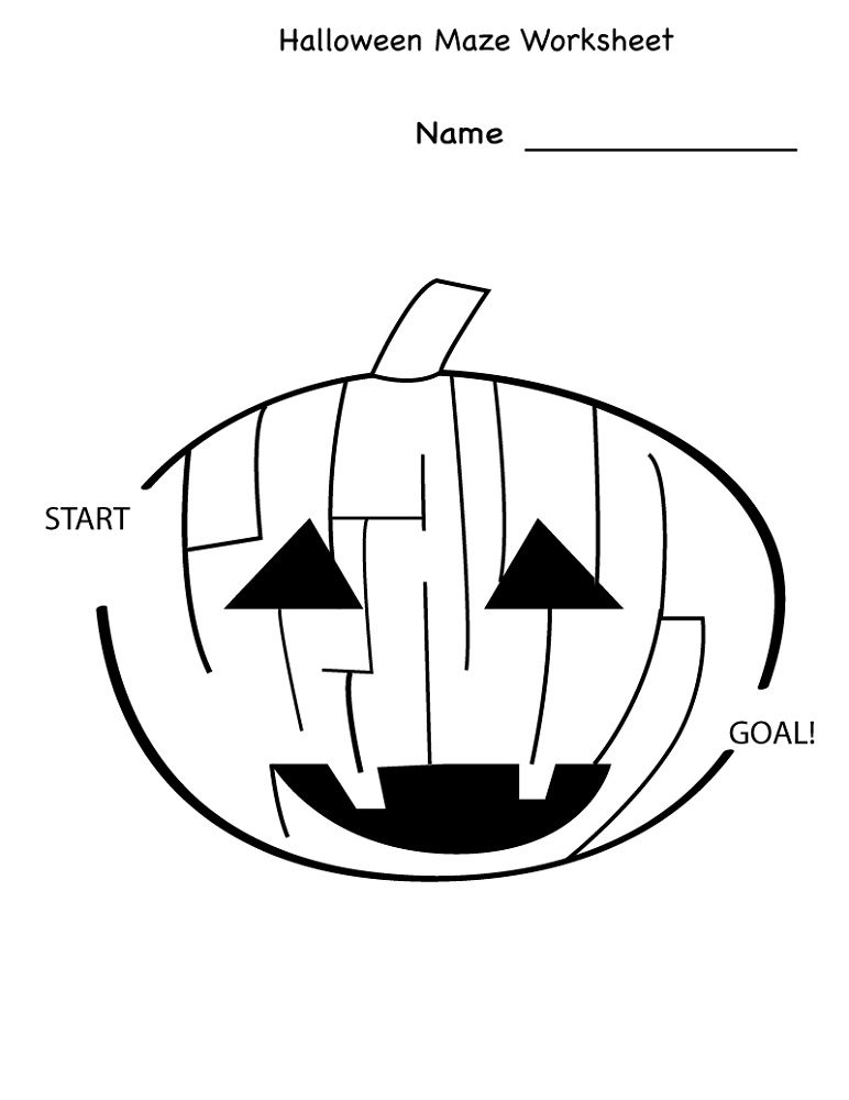 Free Kindergarten Worksheets Maze