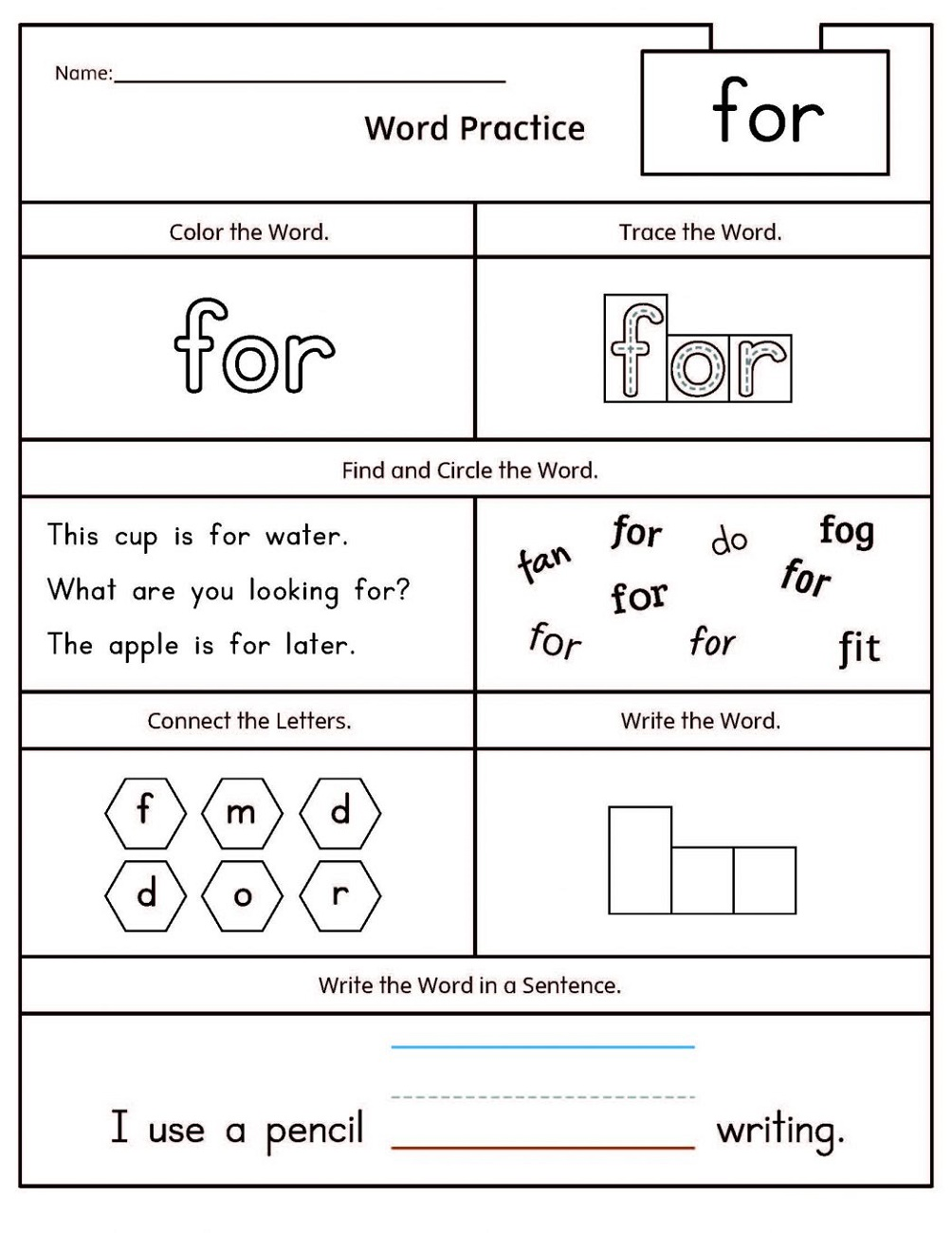 Free Literacy Worksheets Kindergarten