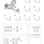 Easter Math Worksheets - Addition Worksheet