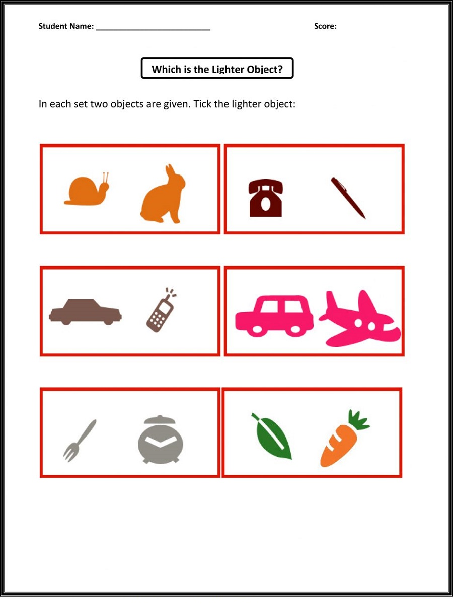Free Math Worksheets For Kids Lighter