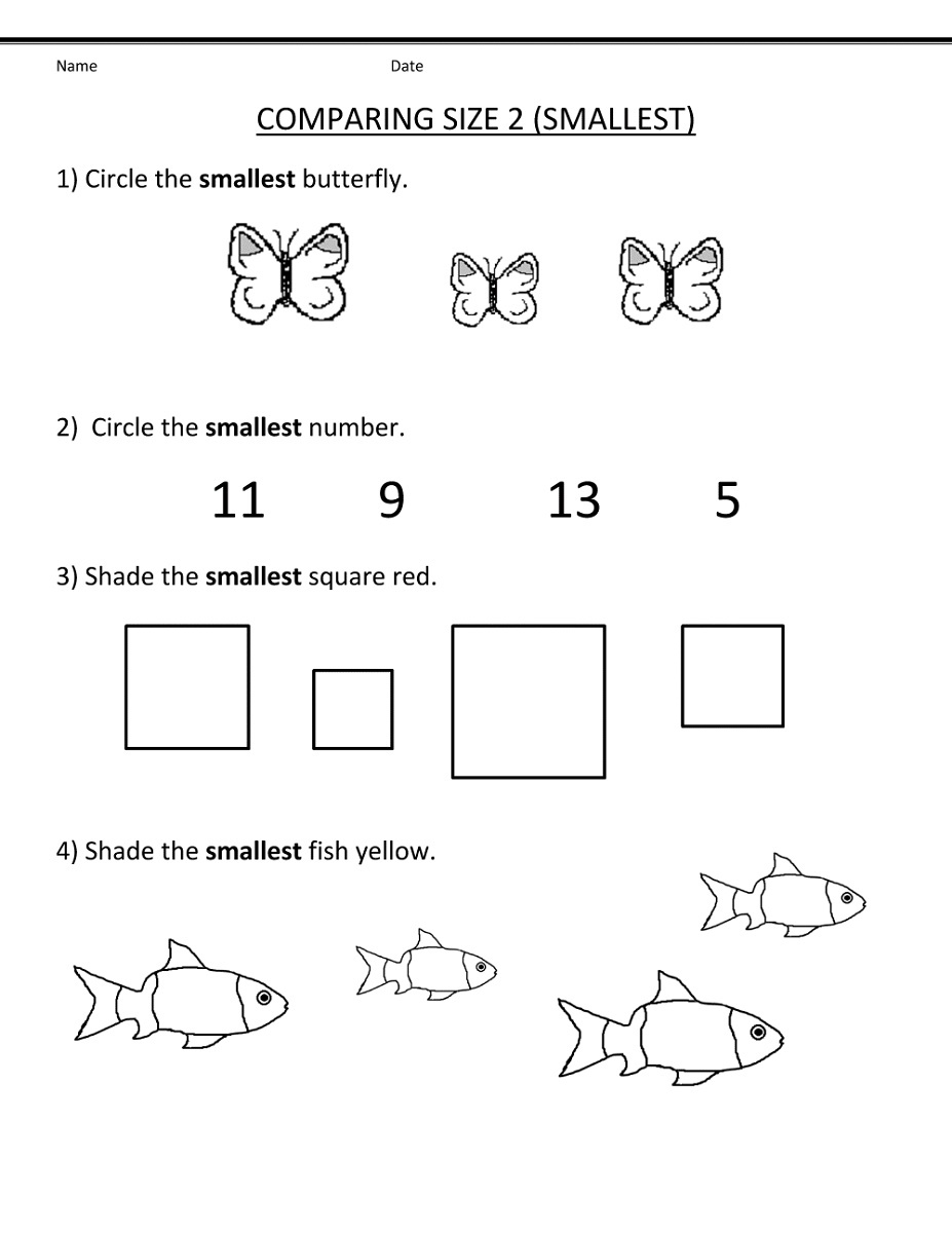 Free Math Worksheets For Kids Small