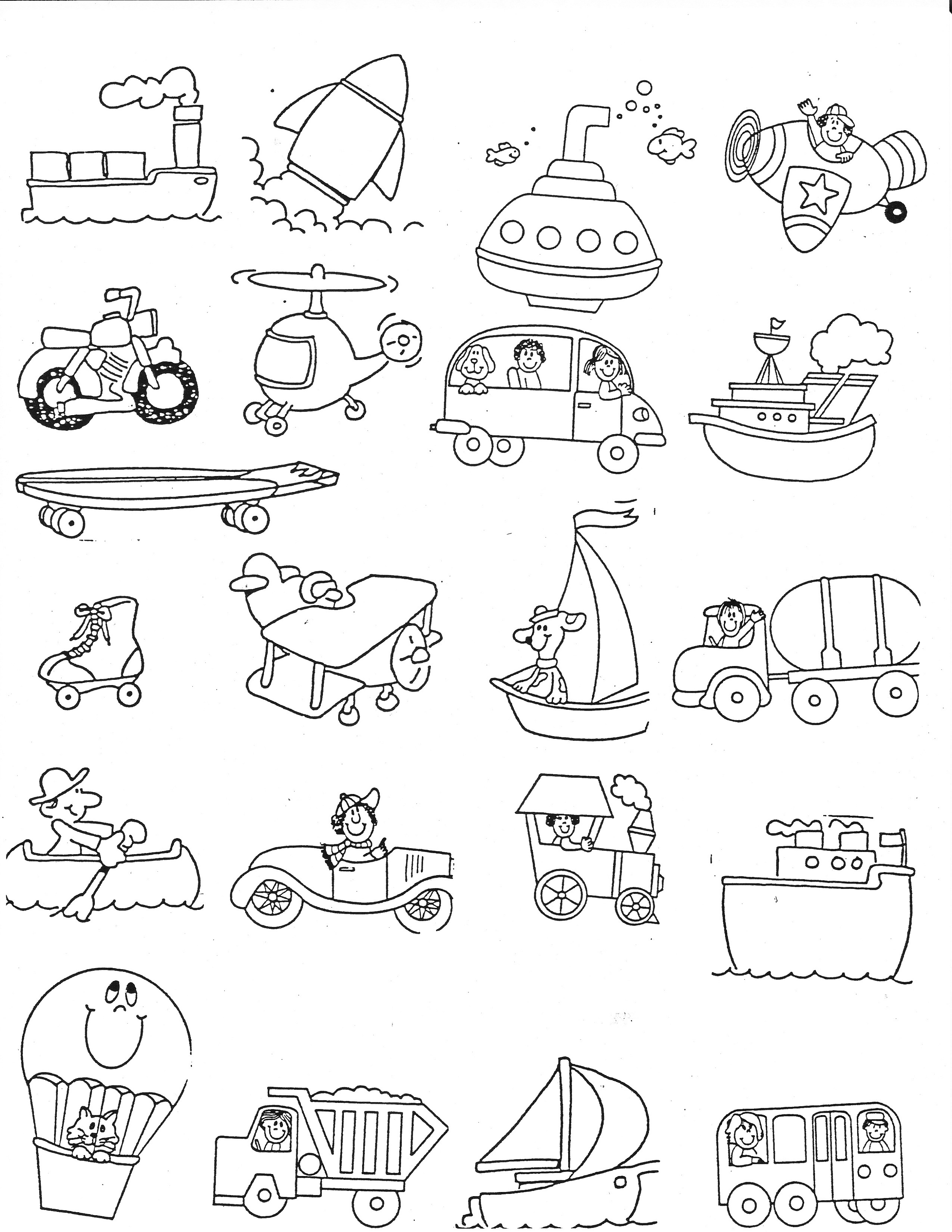 Free Preschool Printables Transportation