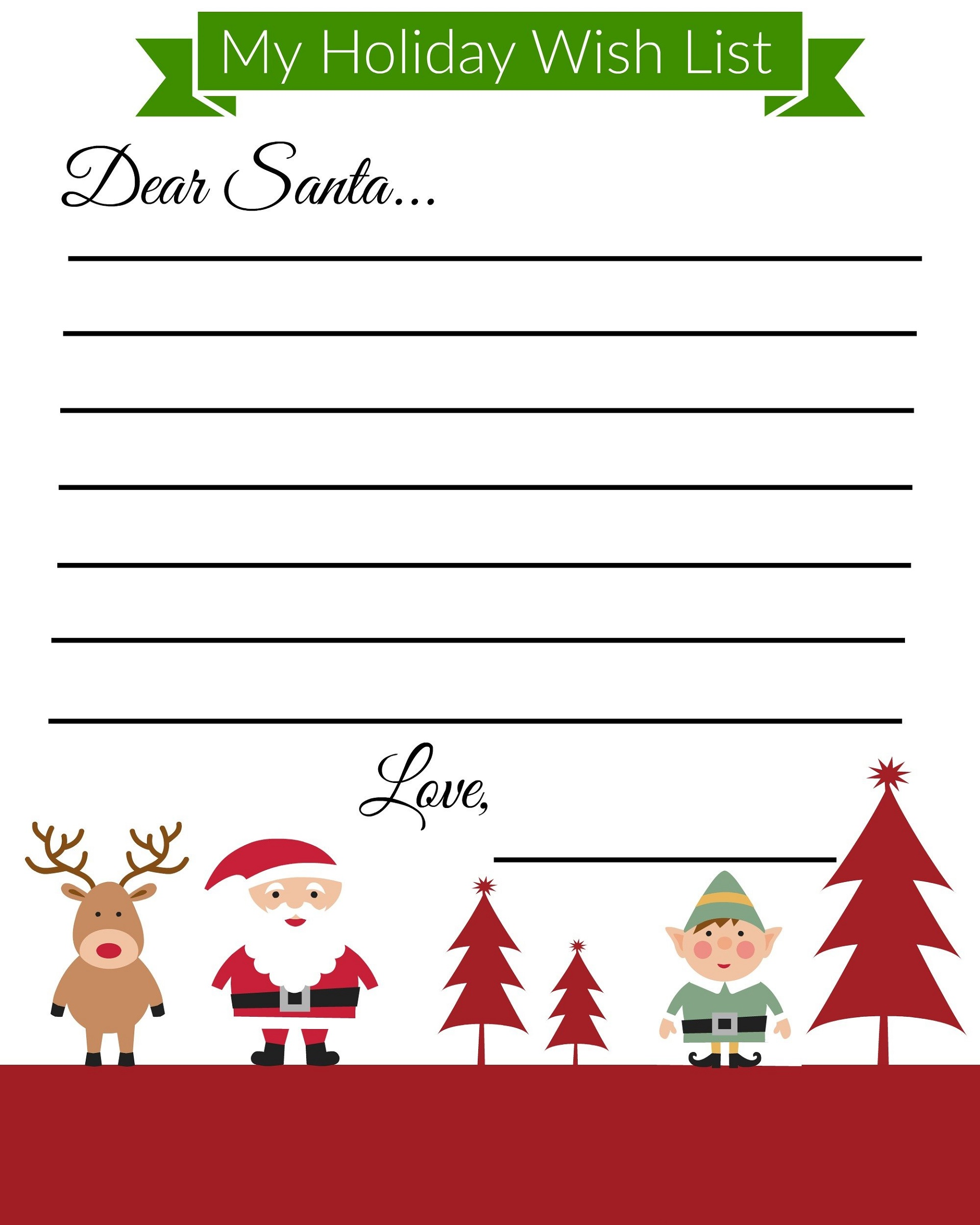 Free Printable Children's Book Template Christmas