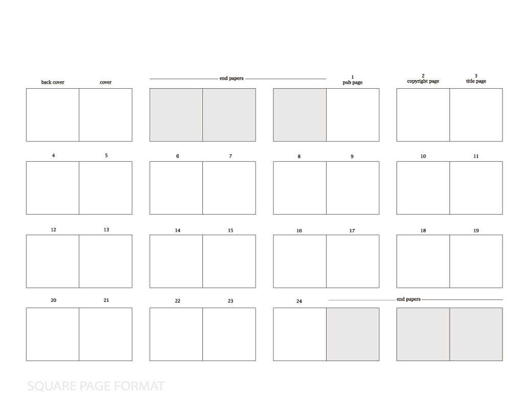 Free Printable Children's Book Template Square Page