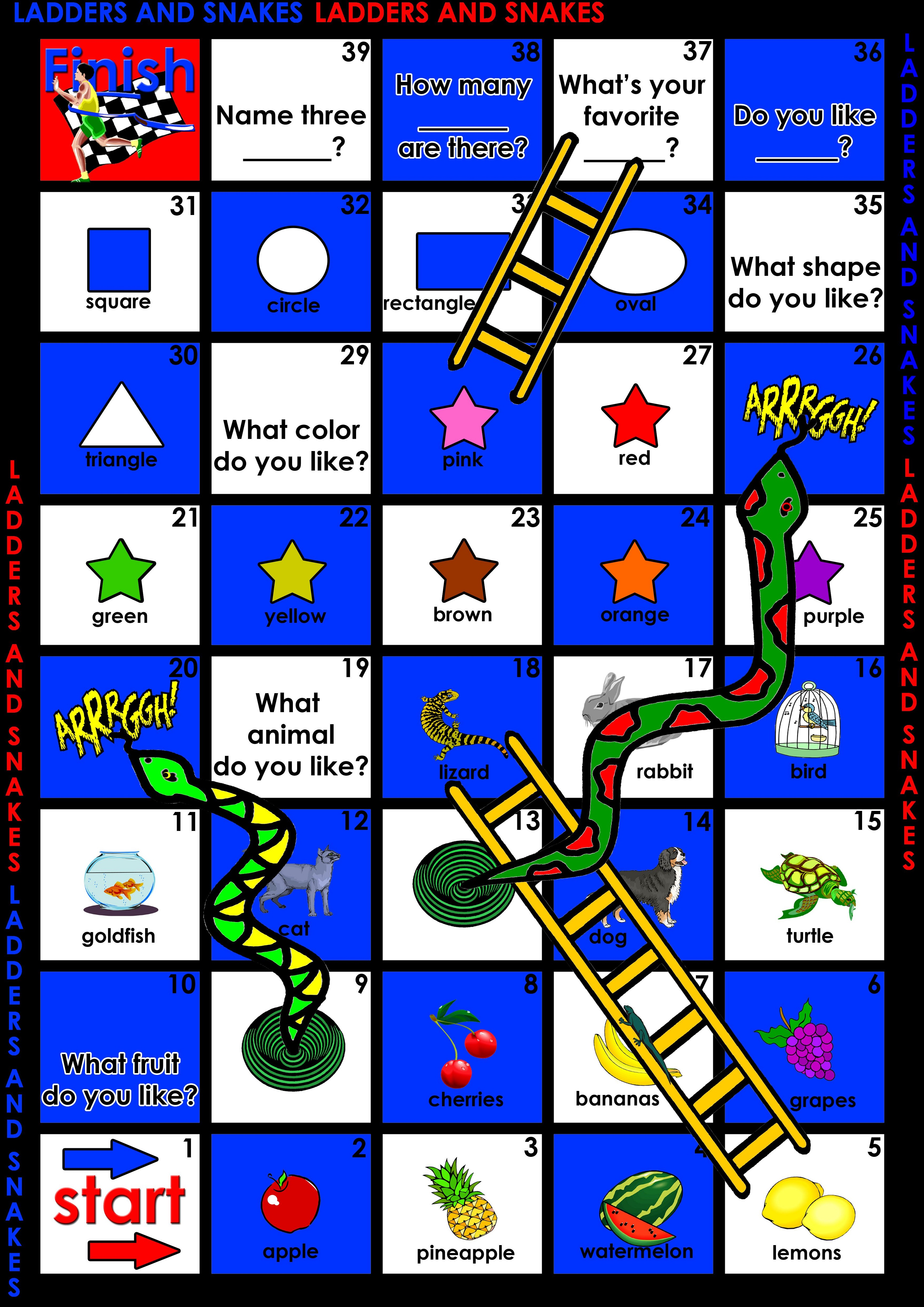 Free Printable Games for Children Board Game