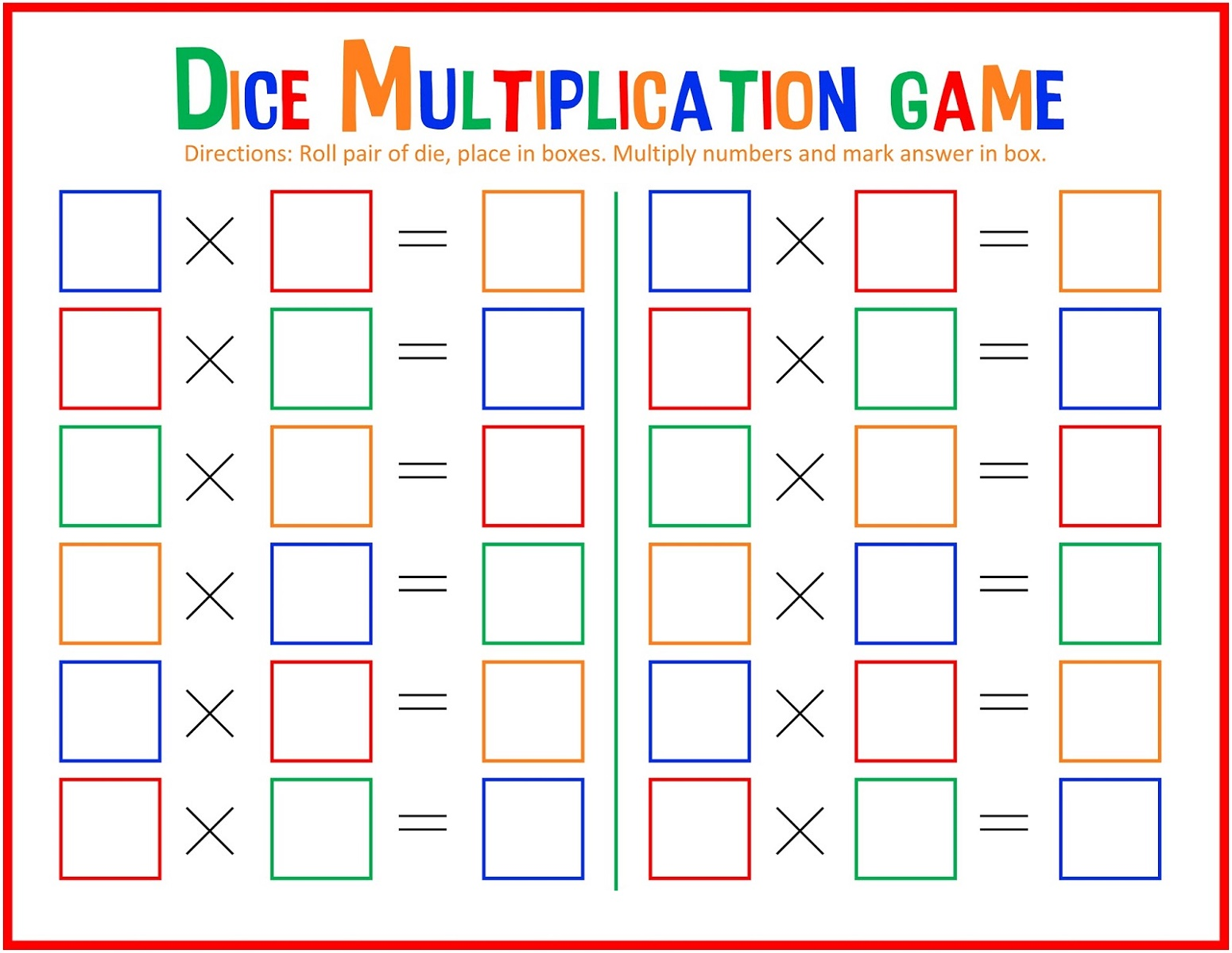 Free Printable Games for Children Math