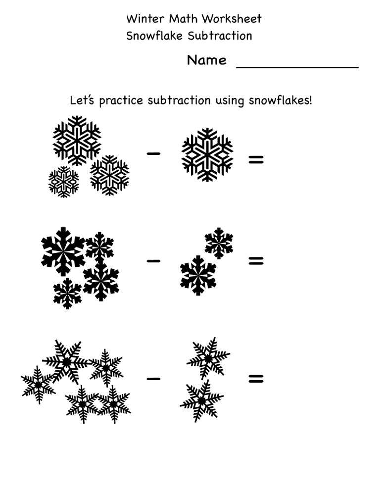 Free Printable Math Sheets Winter