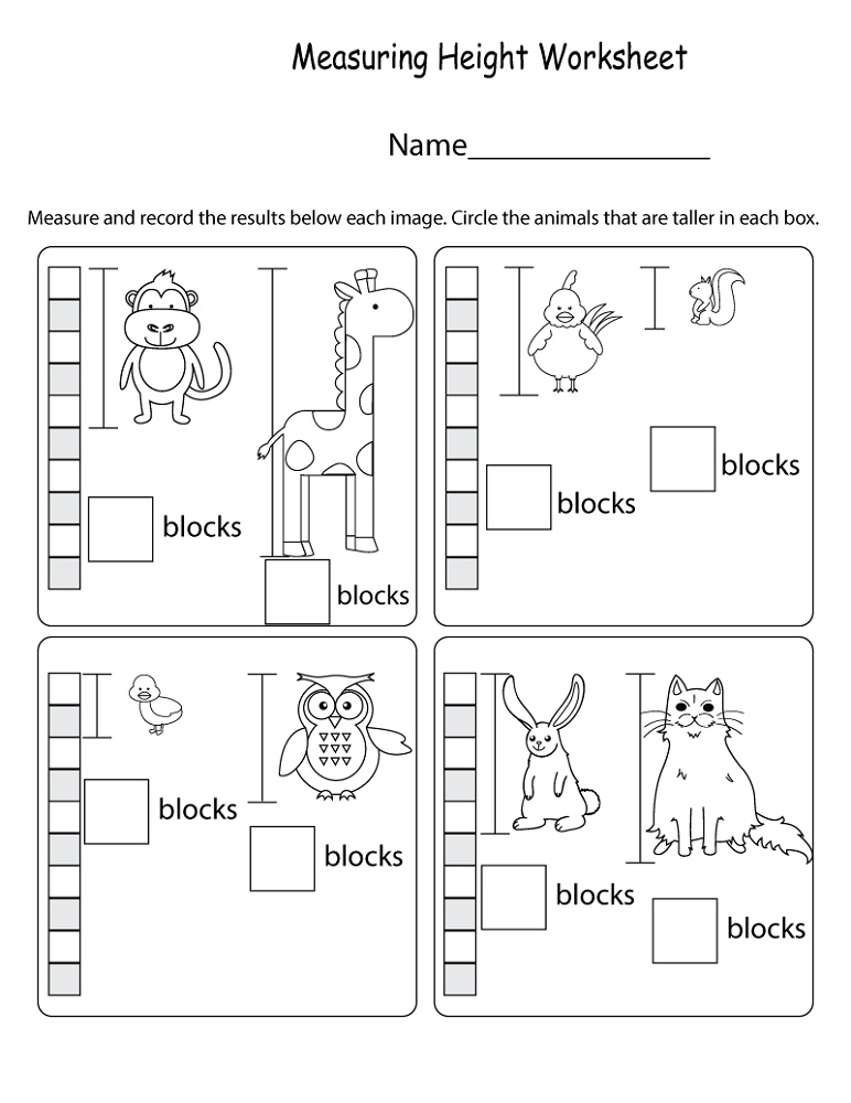 Free Printable Math Worksheets For Kids Measurement
