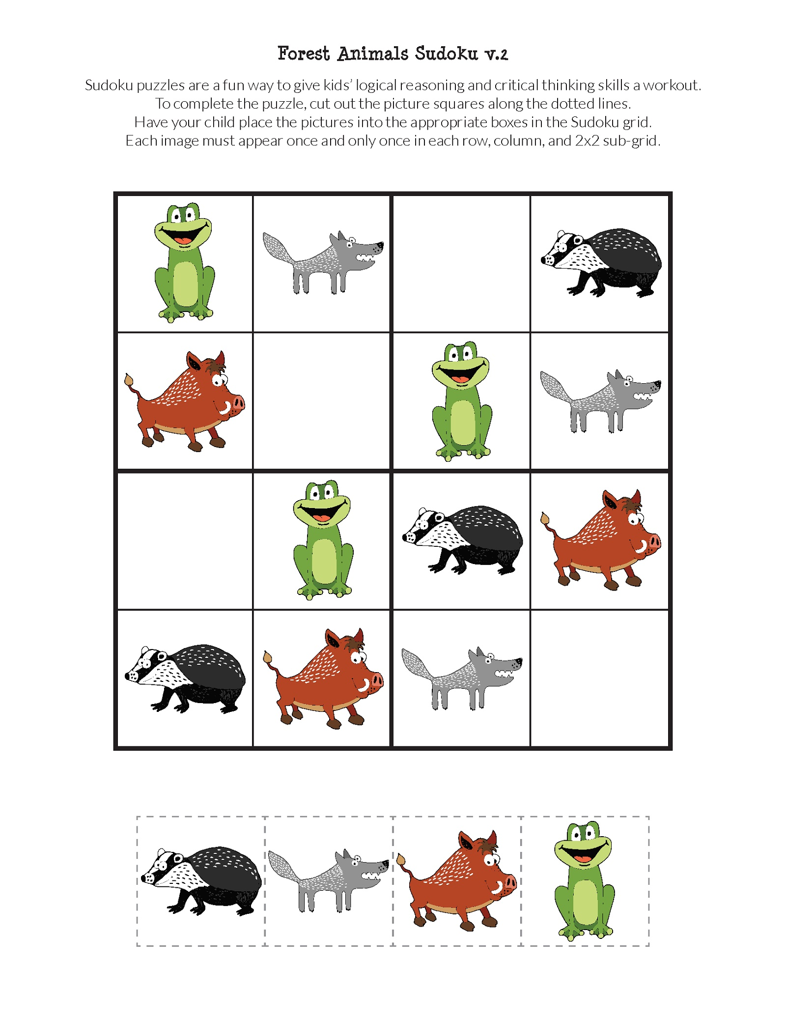 photo relating to Free Printable Puzzles for Kids known as No cost Printable Puzzles for Youngsters Animal K5 Worksheets
