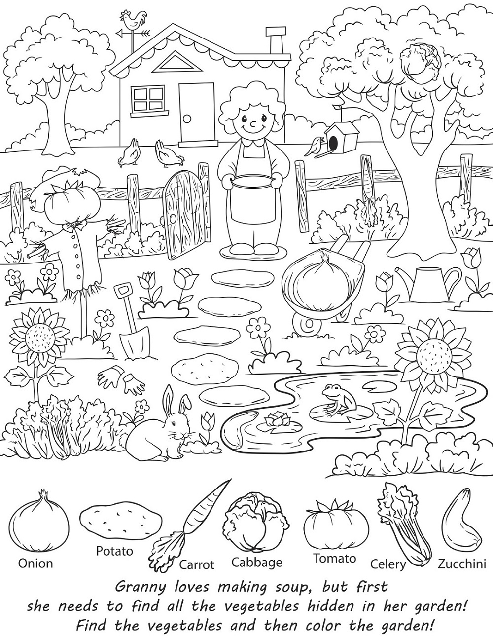Free Printable Puzzles for KidsHidden Object