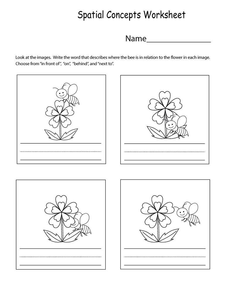 Free School Worksheets Kindergarten Spatial Concept