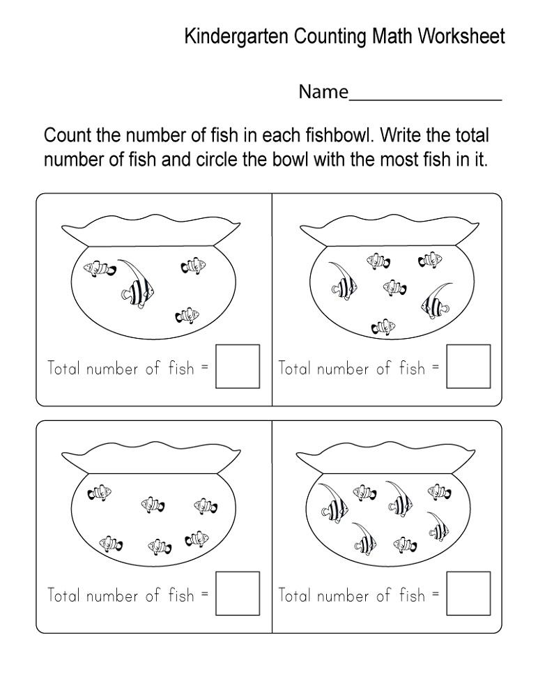 Free Worksheets To Print Kindergarten