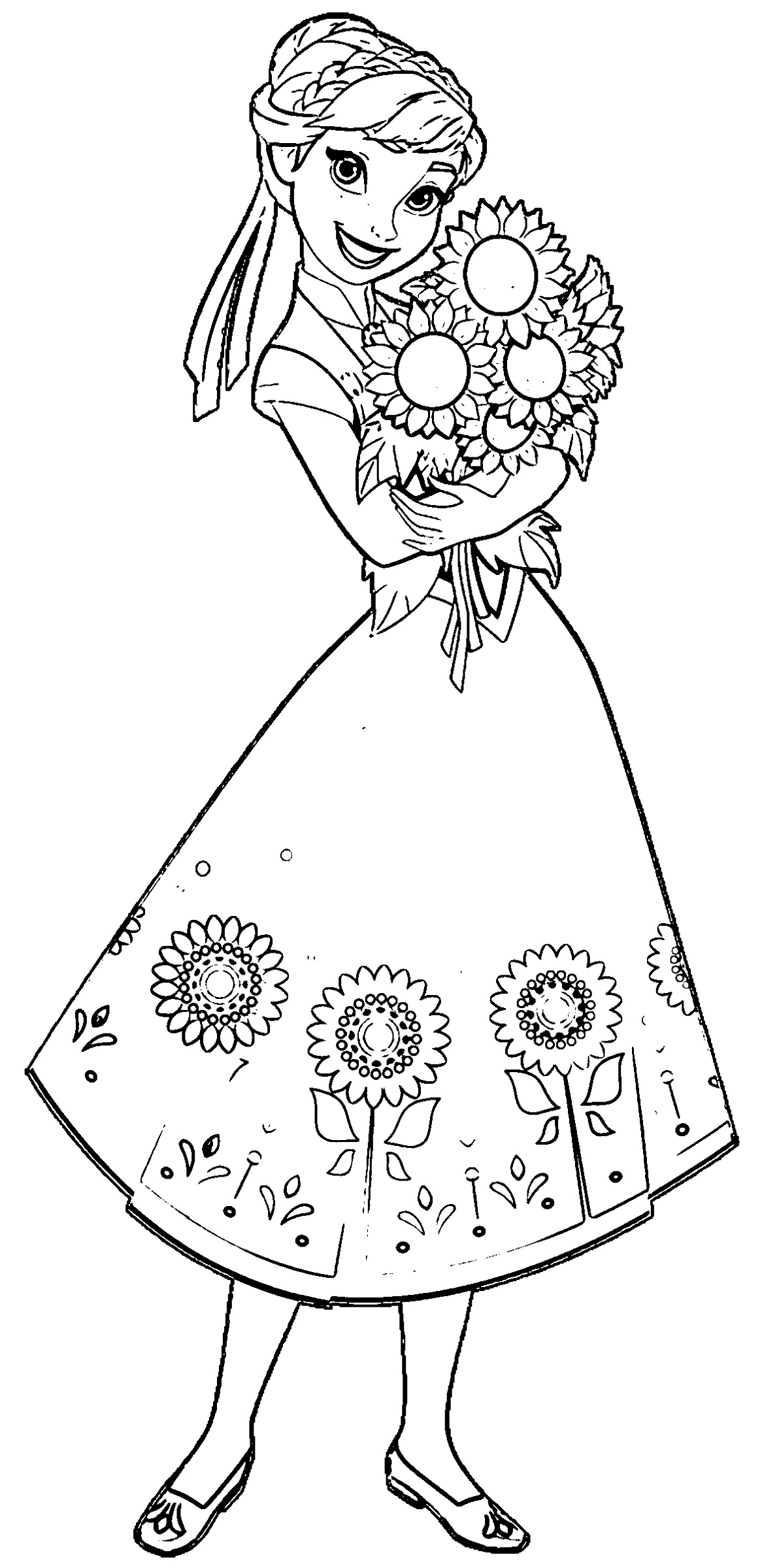 Frozen Fever Coloring Pages Anna