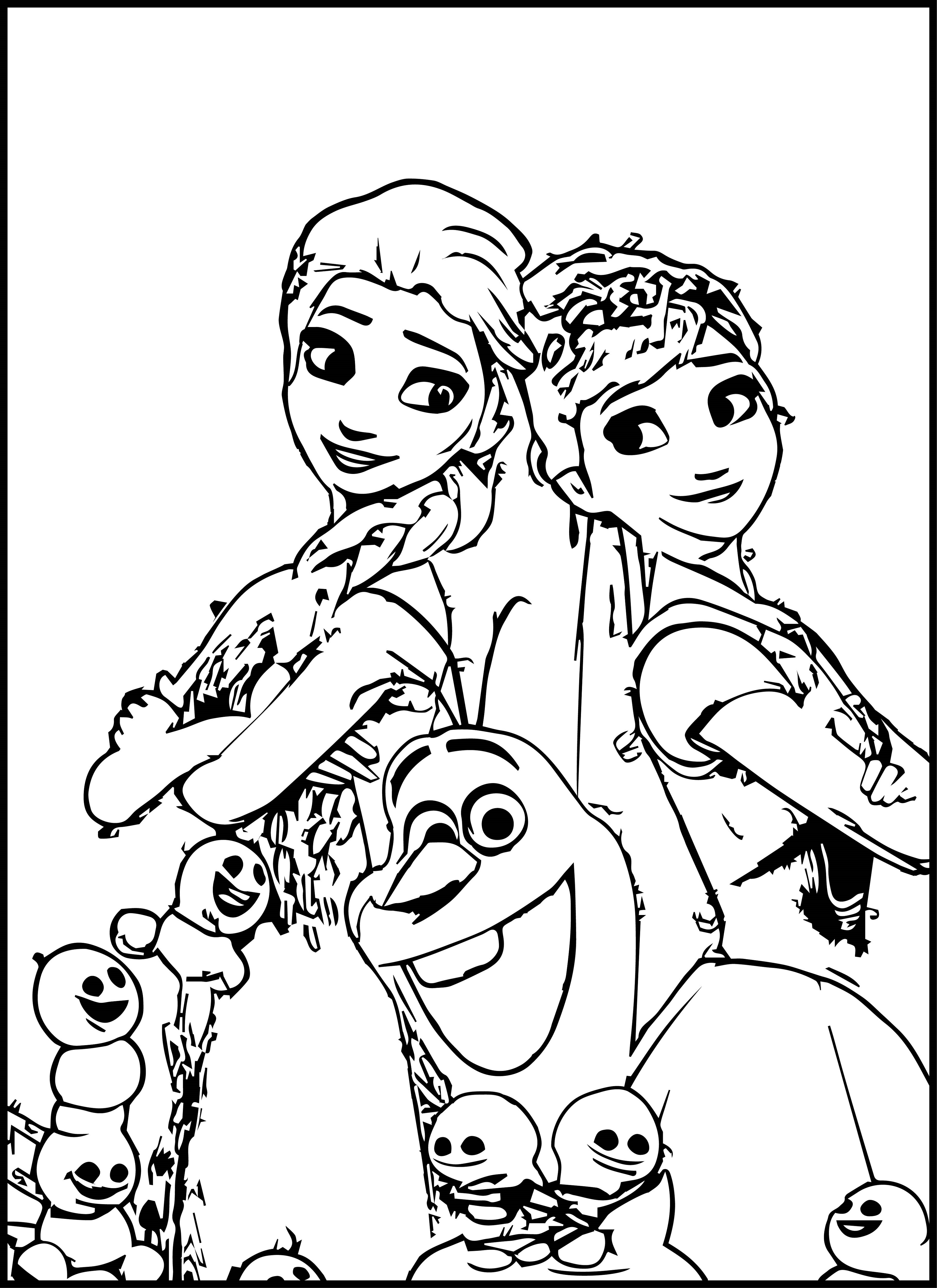 Frozen Fever Coloring Pages Disney