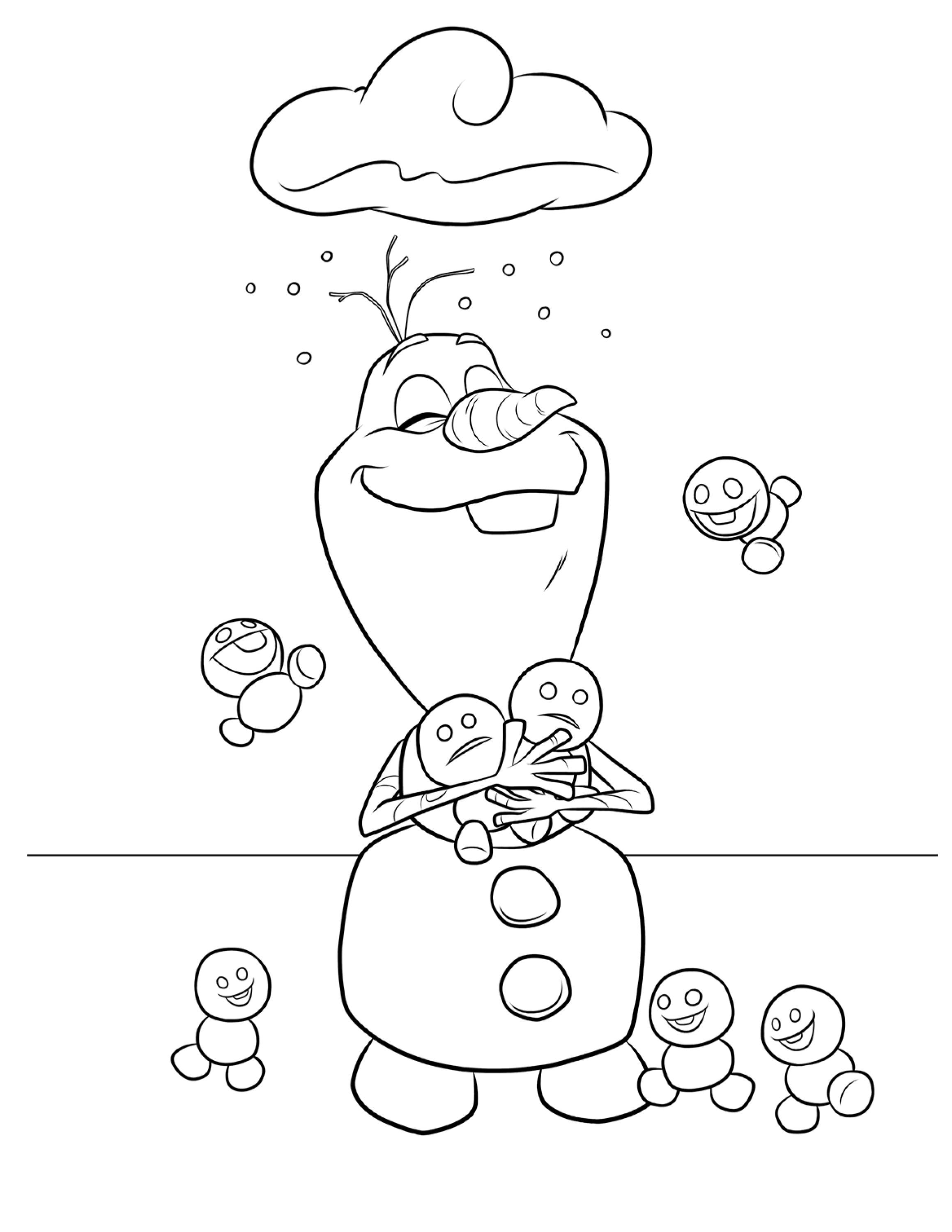 Frozen Fever Coloring Pages Olaf