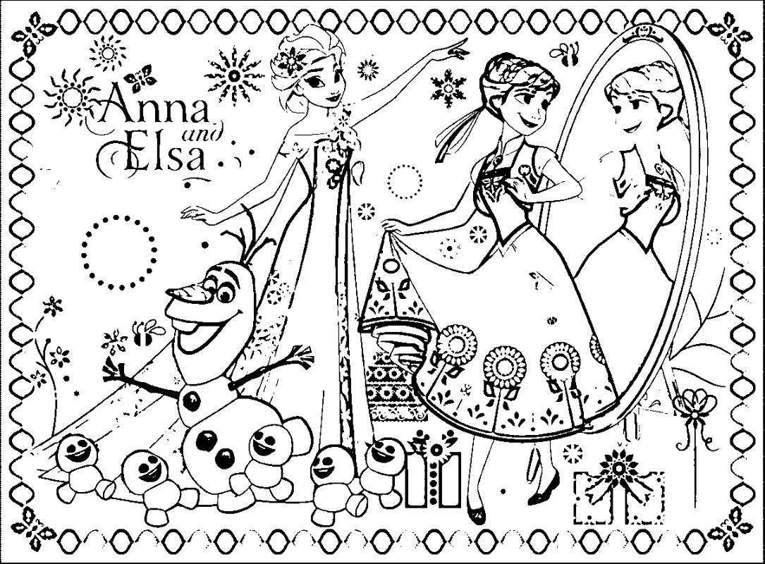 Frozen Fever Coloring Pages | K5 Worksheets