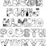 Abc Coloring Pages Alphabet