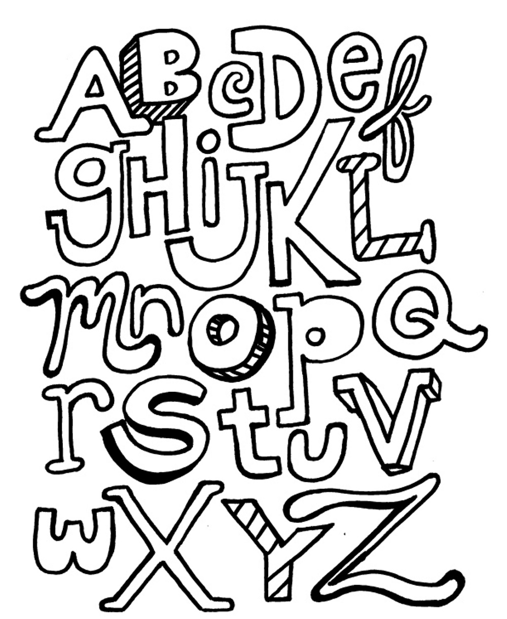 Abc Coloring Pages For Kids