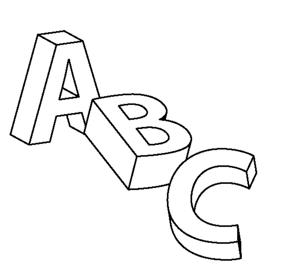 Abc Coloring Pages Free