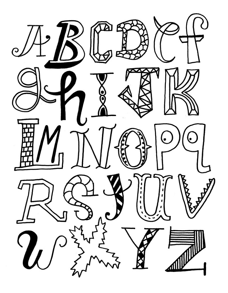 Abc Coloring Pages Letters