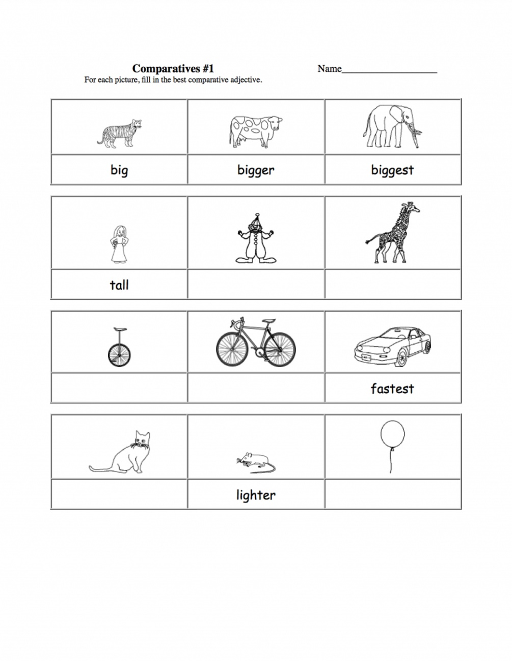 Activities For 7 Year Olds Printable Adjectives
