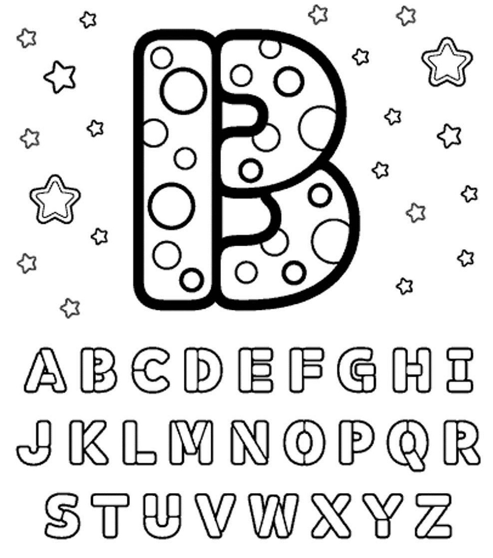 Alphabet Coloring Pages B Letter