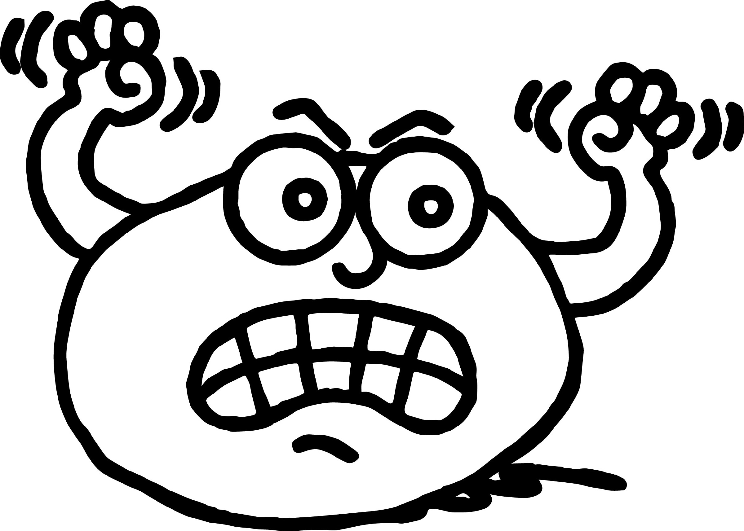 Anger Management Coloring Pages Cartoon