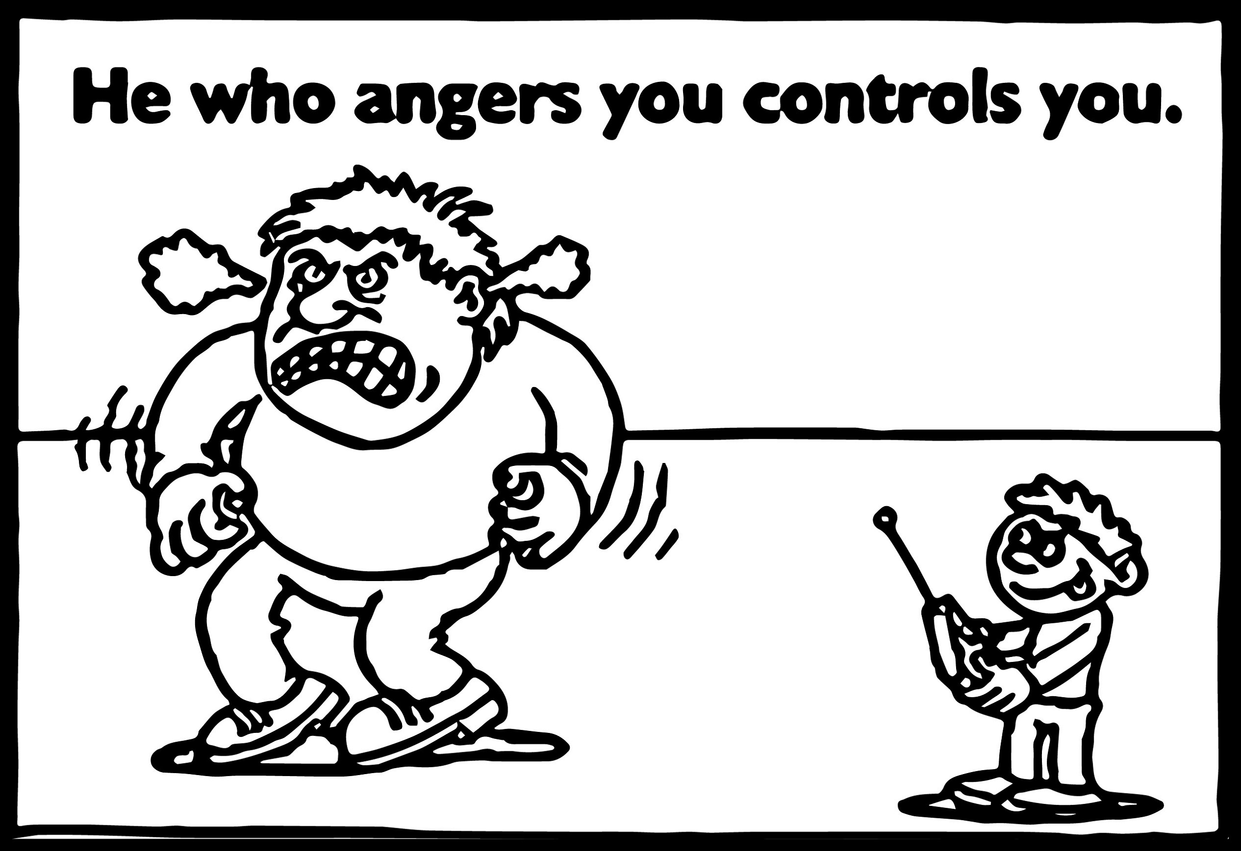 Anger Management Coloring Pages Control