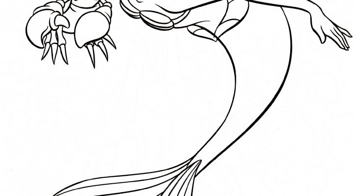 Ariel Coloring Pages And Sebastian