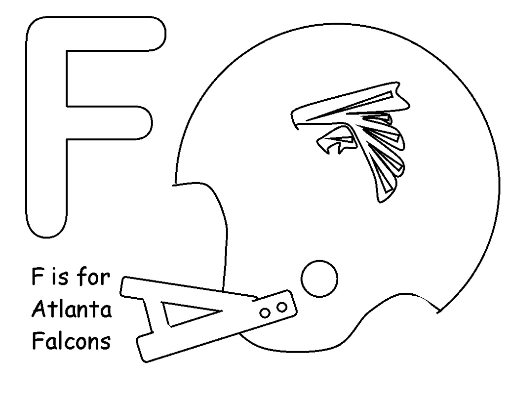 Atlanta Falcons Coloring Pages Football