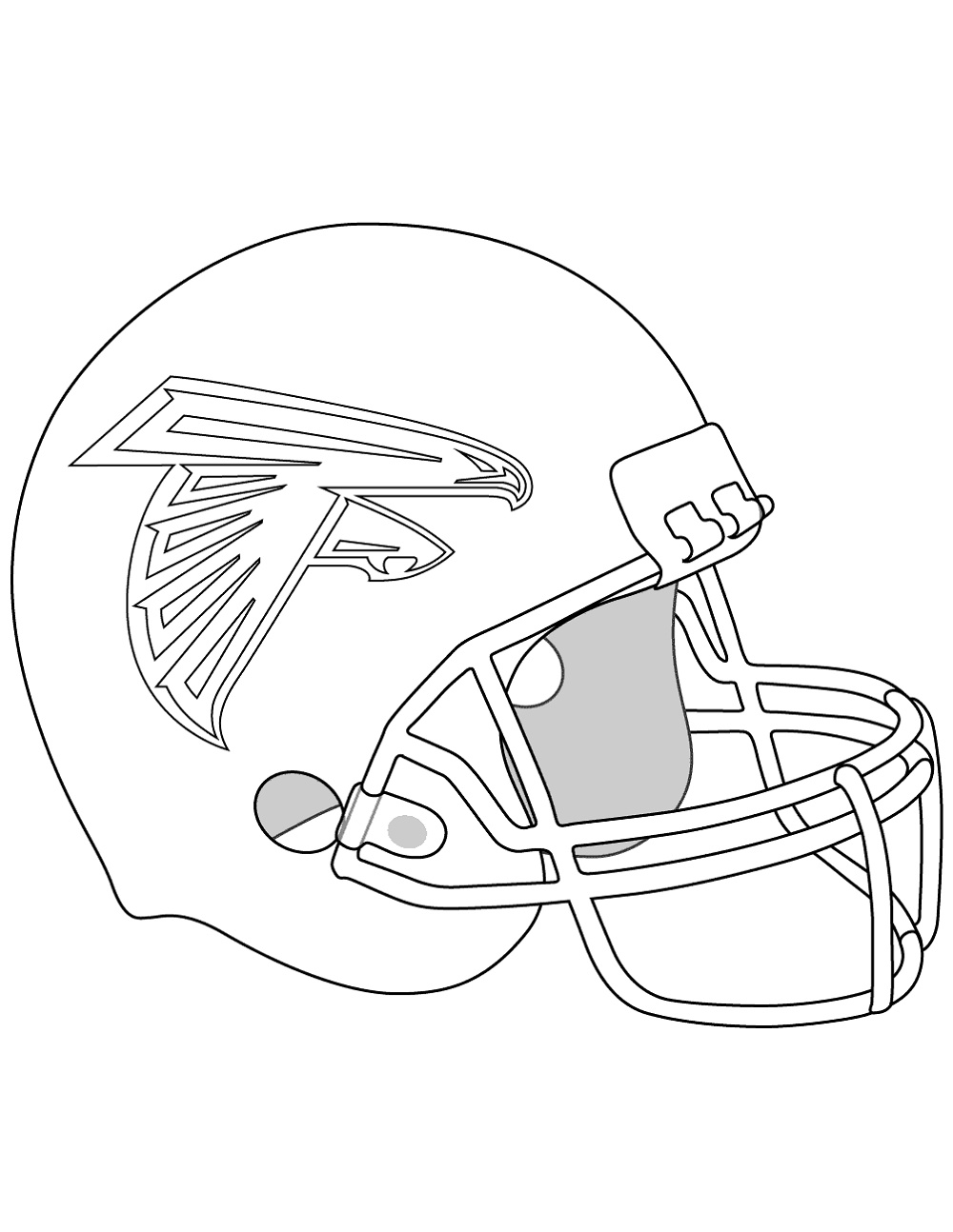 Atlanta Falcons Coloring Pages Helmet