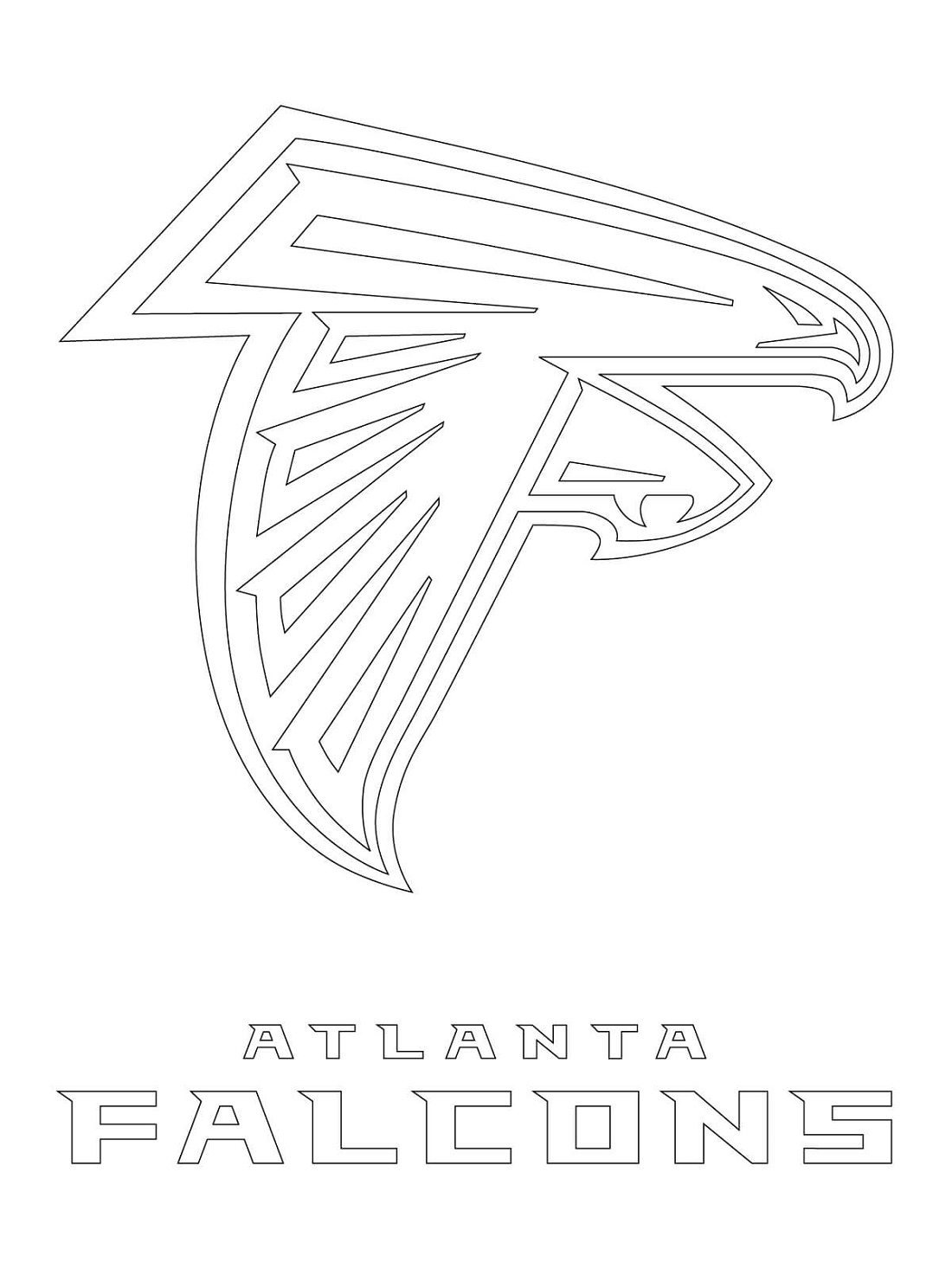 Atlanta Falcons Coloring Pages Logo