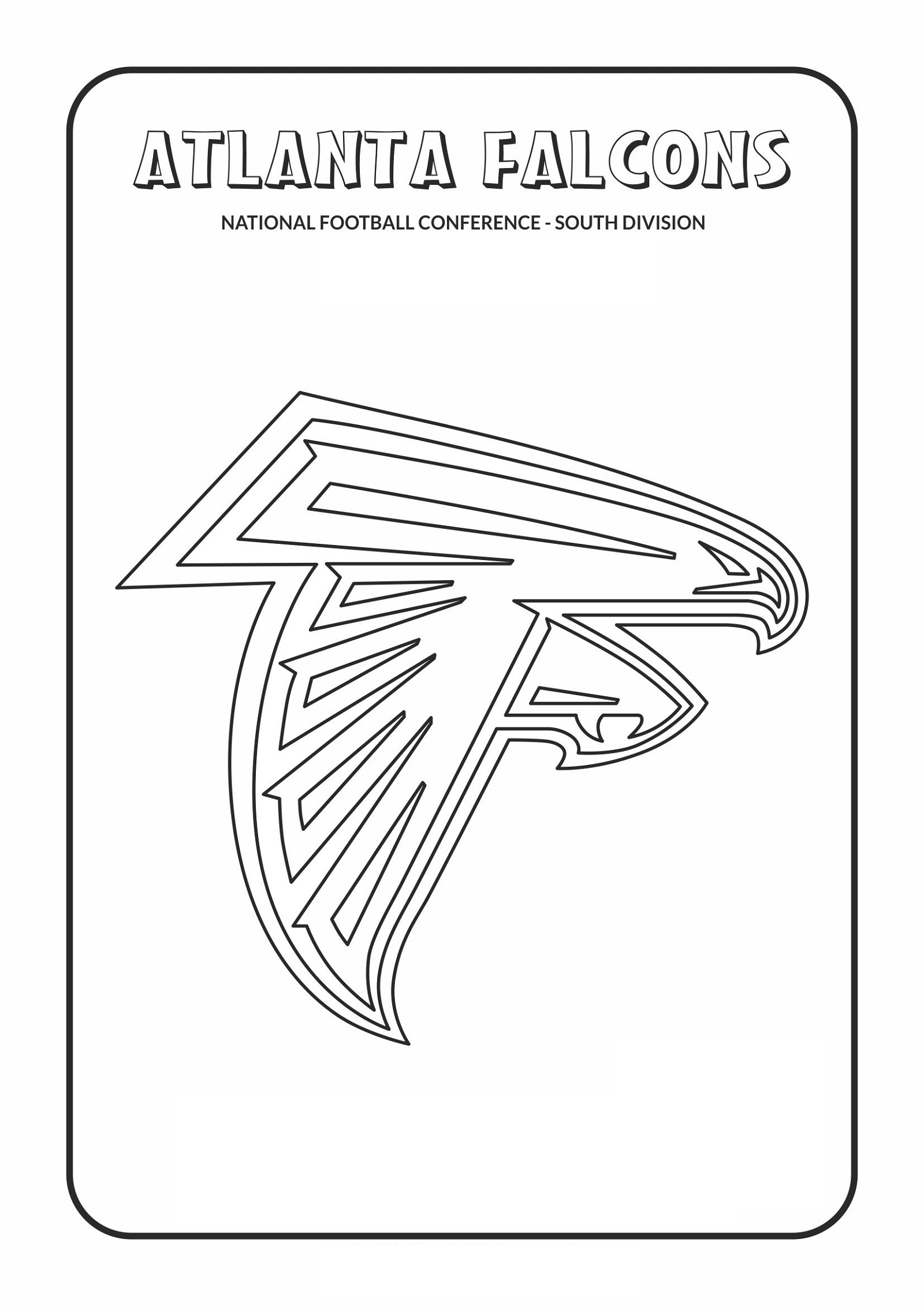 Atlanta Falcons Coloring Pages To Print