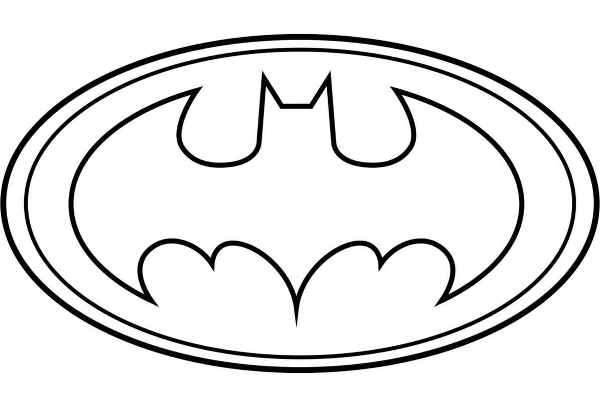 Batman Logo Coloring Pages Free