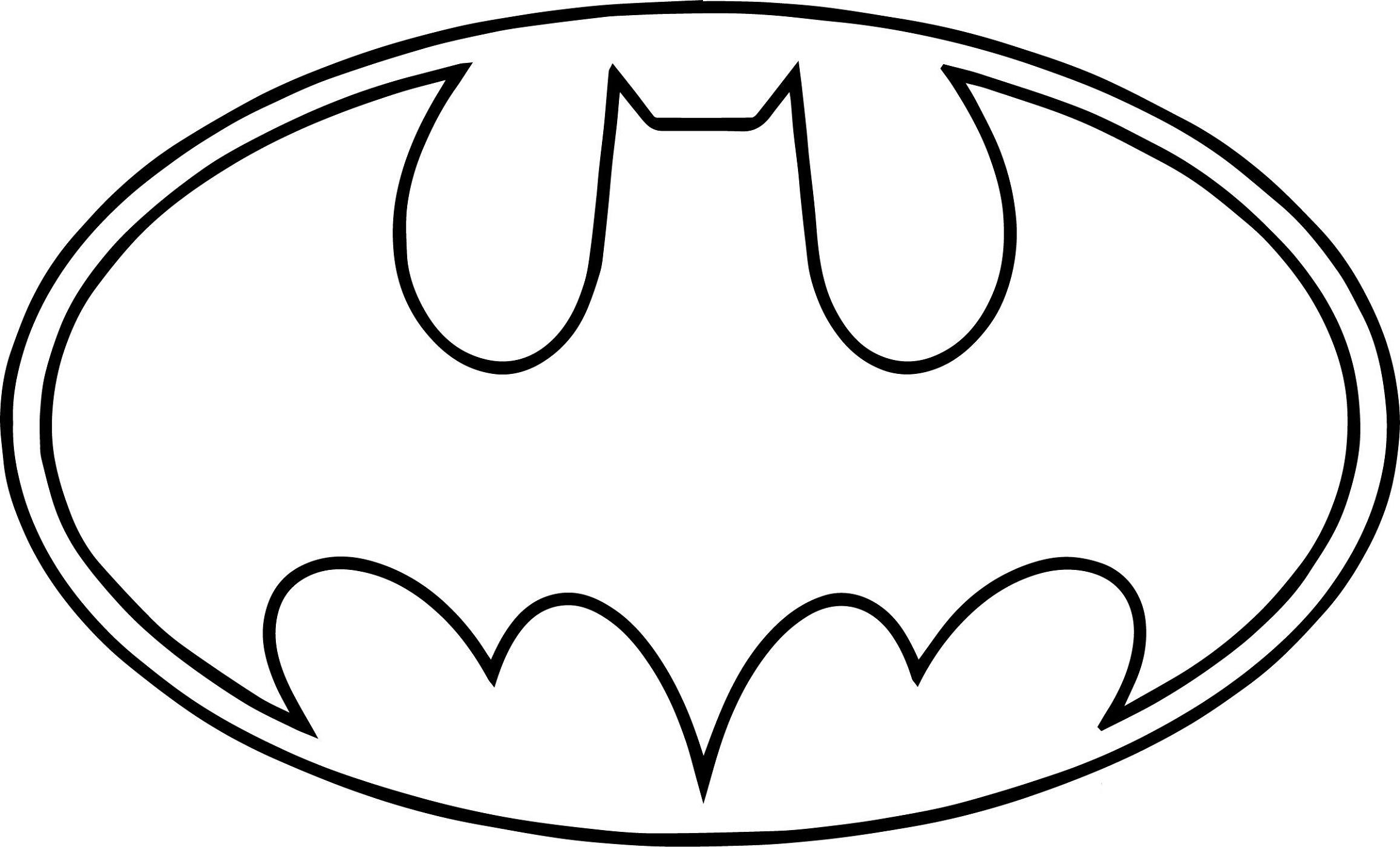 Batman Logo Coloring Pages Line