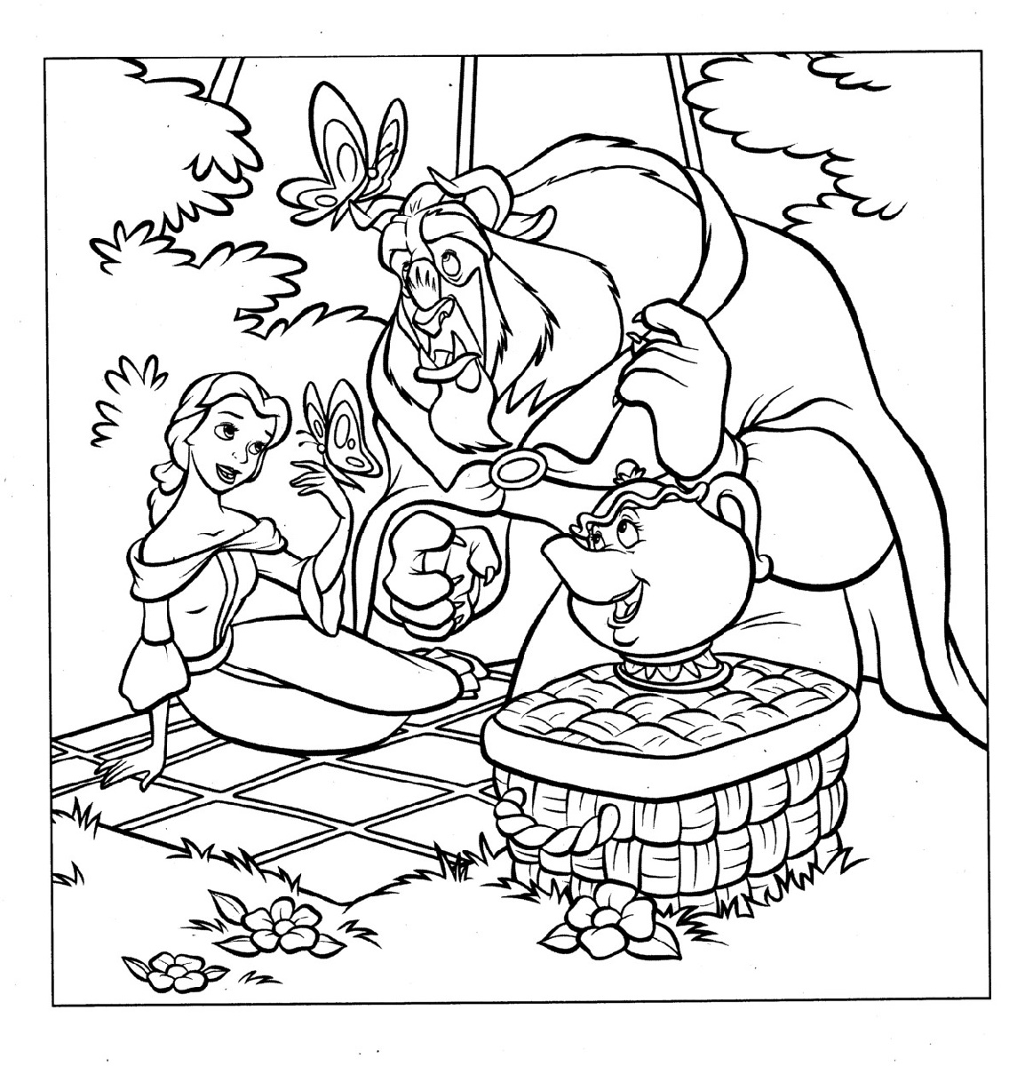 Belle Coloring Pages Beauty And The BeastBelle Coloring Pages Beauty And The Beast