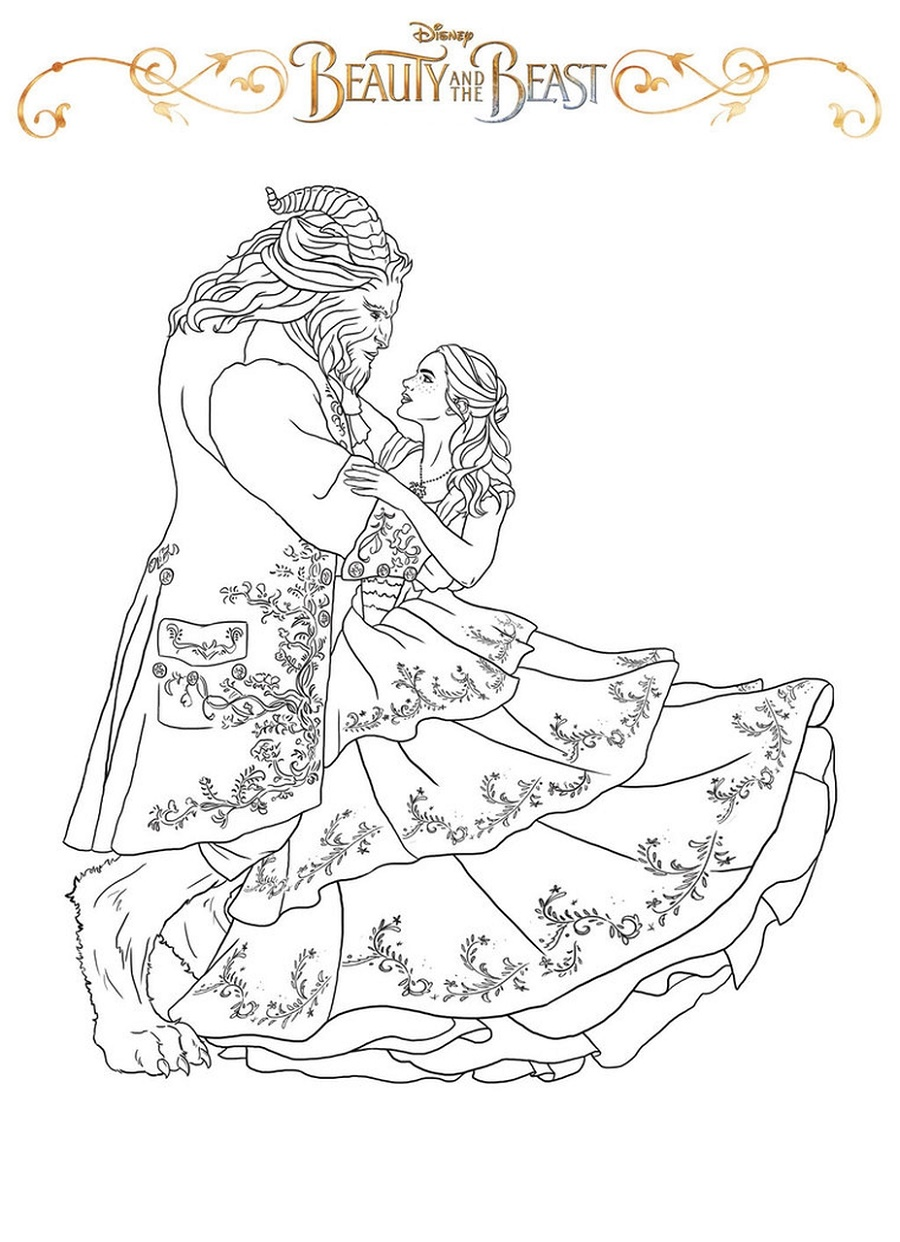 Belle Coloring Pages Dancing