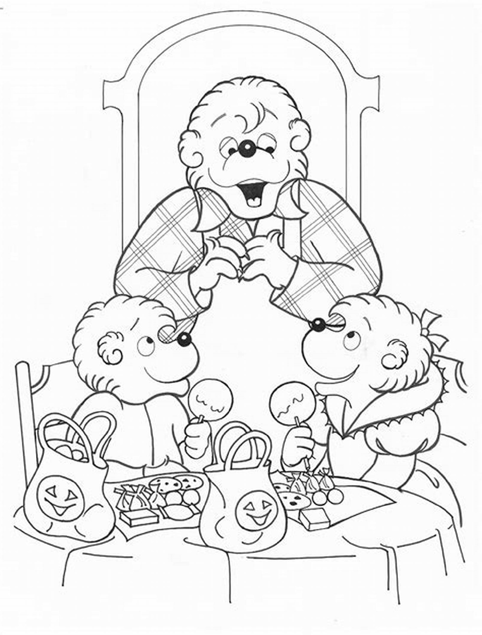 Berenstain Bears Coloring Pages Brother and Sister