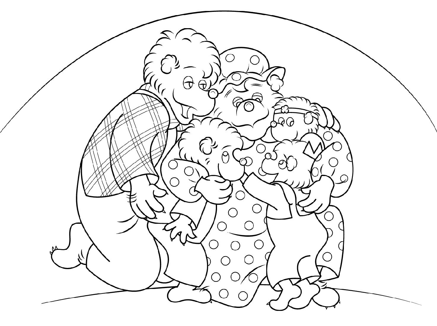 Berenstain Bears Coloring Pages Family